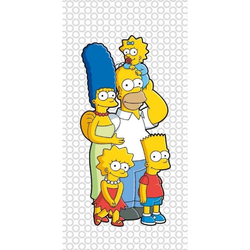 Полотенце для душа MonaLiza THE SIMPSONS семейка 70х140см, арт. 508995, Банные полотенца: бамбуковые, махровые. Детские и для взрослых, Мона-Лиза (Mona-Liza), детское
