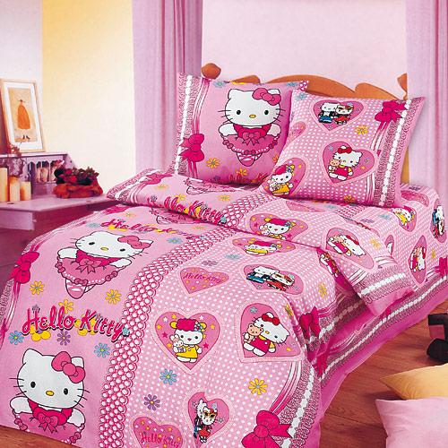 БАНТИКИ (Hello, Kitty), Разное - постельное белье детское - БЯЗЬ (ГОСТ), Арт-Дизайн (Артпостель), из бязи, детское