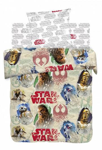 Звездные войны - ЧУБАККА и ДРОИДЫ (STAR WARS) поплин, Разное - постельное белье детское - БЯЗЬ (ГОСТ), из поплина, детское