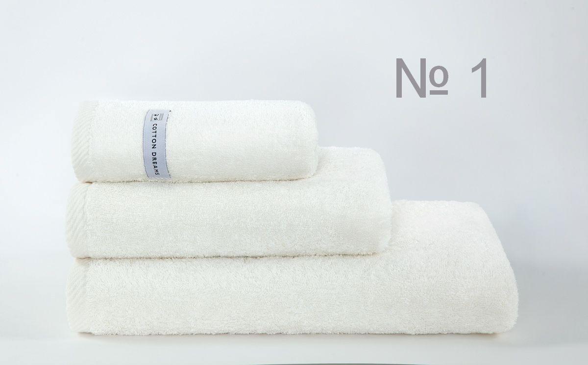Полотенце бамбук CD Bourgeois Nouveau - цвет CREAM (N1), Банные полотенца: бамбуковые, махровые. Детские и для взрослых, Коттон Дримс