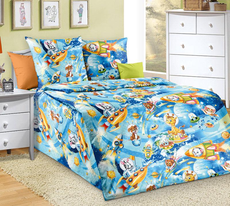 КОСМИЧЕСКИЕ ПРИКЛЮЧЕНИЯ, Разное - постельное белье детское - БЯЗЬ (ГОСТ), Текс-Дизайн, из бязи, детское