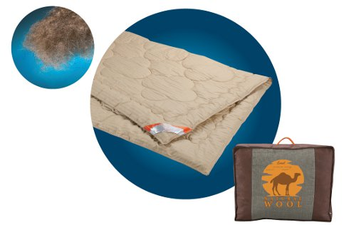 Одеяло SAMSON верблюжья шерсть, 200х210см, Одеяла из верблюжьей шерсти, Самсон